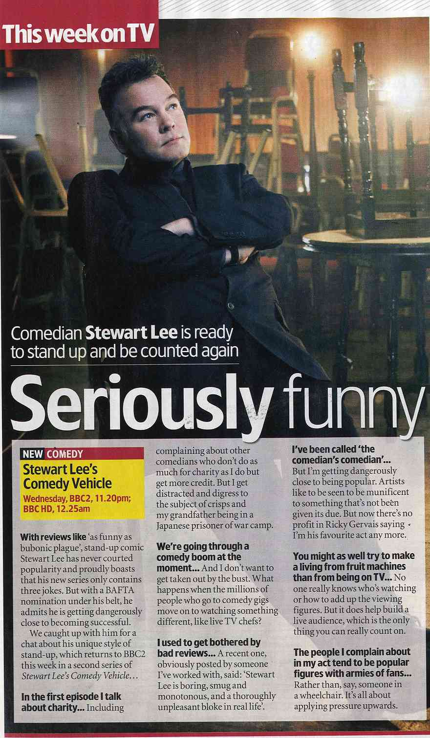 Seriously Funny – April 2011