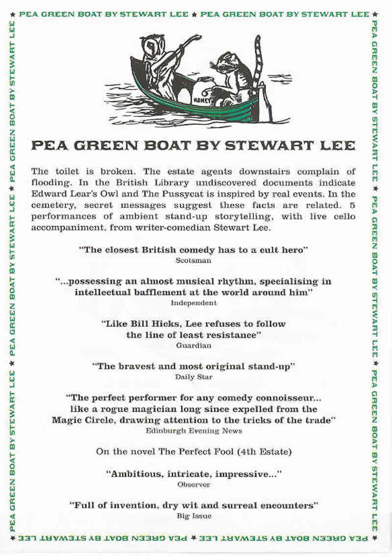 Pea Green Boat -