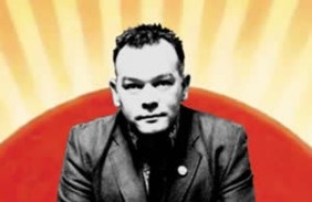 Stewart Lee - 90s Comedian Tour Poster (designed by 50p badges, 2004)