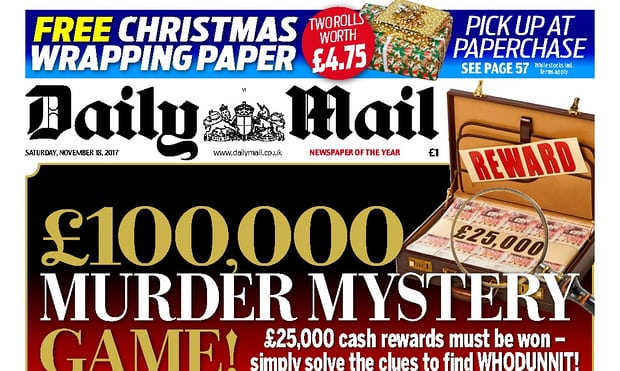 The Daily Mail's ill-fated Paperchase promotion. Photograph: Daily Mail