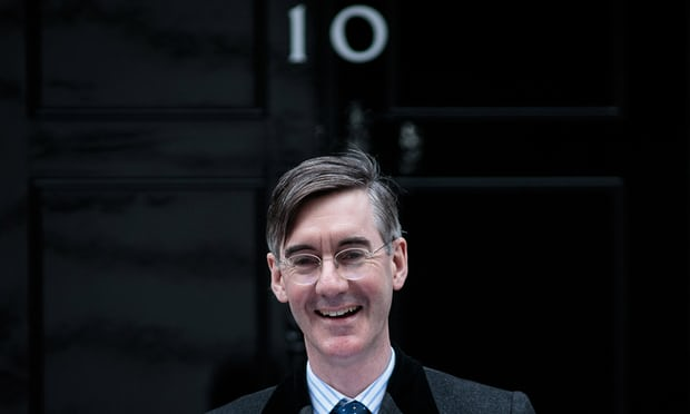 Jacob Rees-Mogg: 'an Etonian Hedorah'. Photograph: Jack Taylor/Getty Images