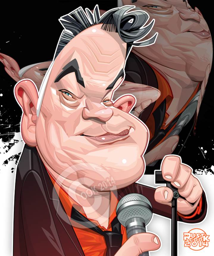 Caricature by Russ Cook