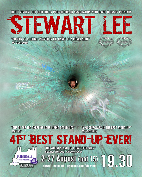 41st Best Standup Ever! - 41st Best Stand Up Edinburgh Flyer