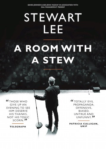 TICKETS FOR STEWART LEE'S EDINBURGH RUN ON SALE TODAY APRIL 7TH
