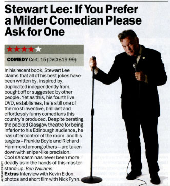 If You Prefer A Milder Comedian DVD Review ★★★★