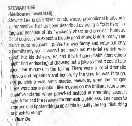 Standup Comedian – Melbourne
