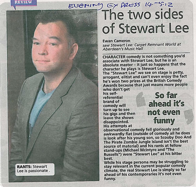 The Two Sides Of Stewart Lee