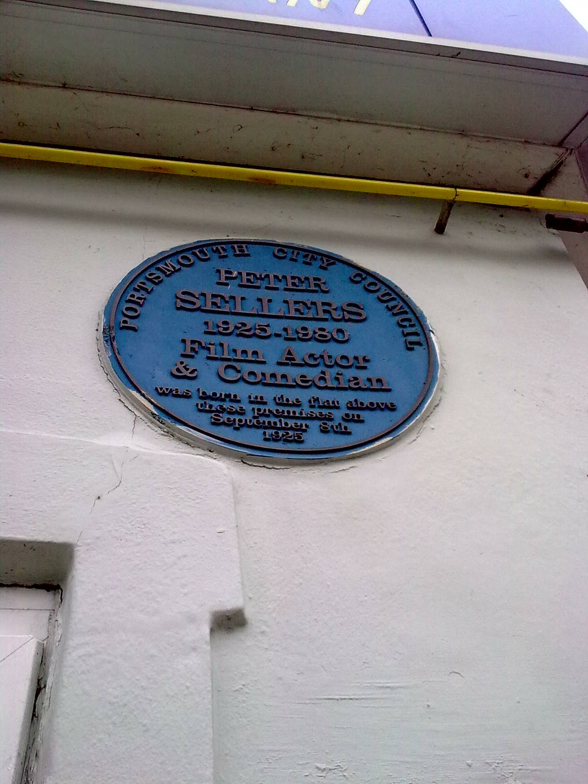 Peter Sellers' birthplace. Portsmouth.