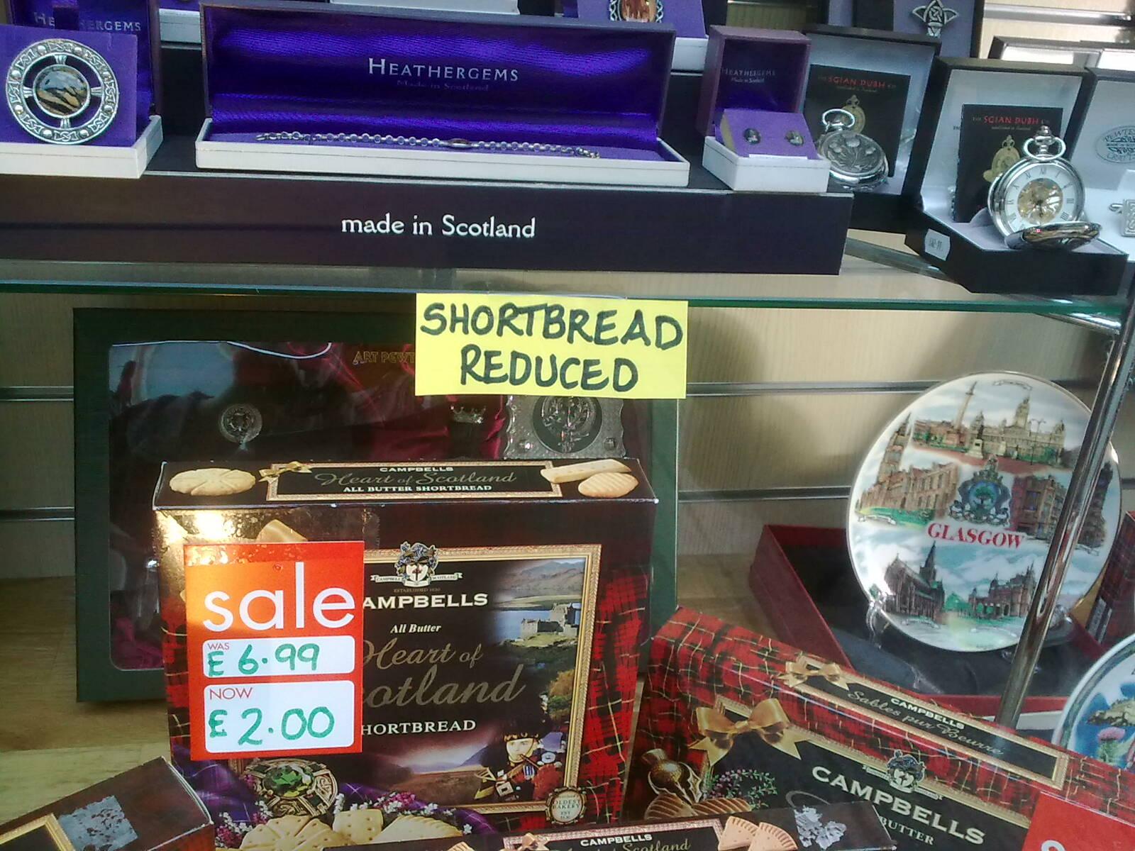 Shortbread Reduced, Glasgow.