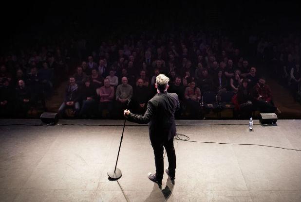 Benign spirit interrupts hilarious Stewart Lee show