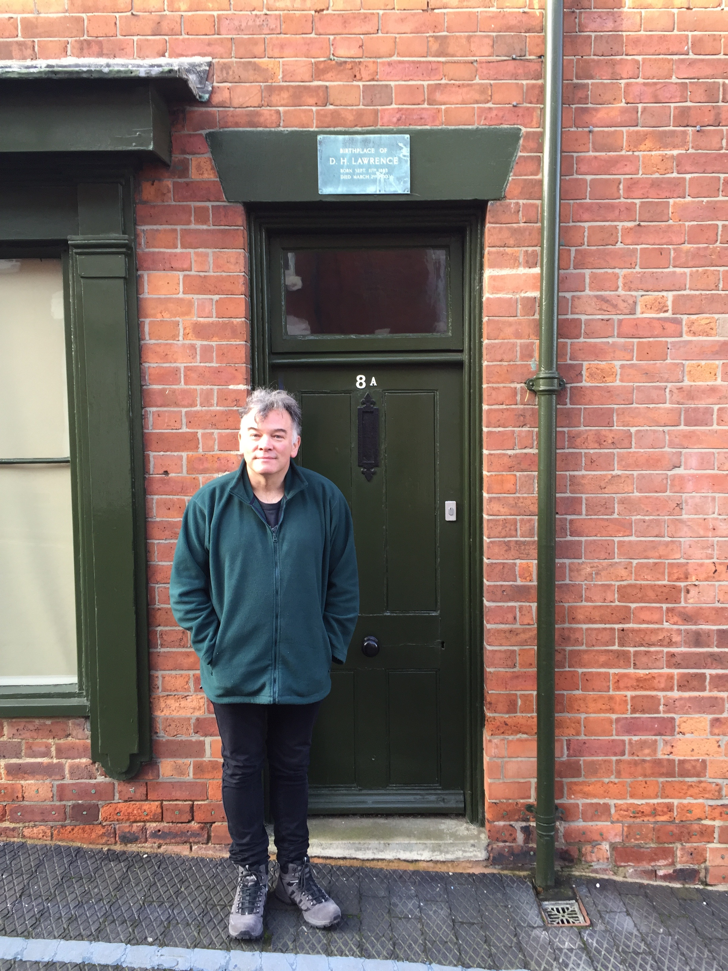 January 2016 - At the birthplace of D H Lawrence, Eastwood, Notts