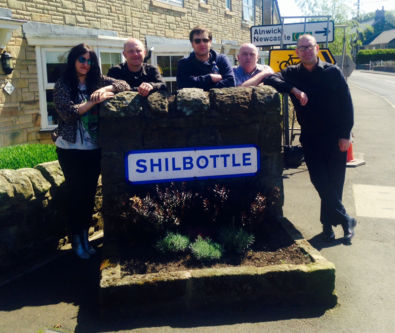 June 2015 - The Nightingales visit Shilbottle en route between gigs & send me this.