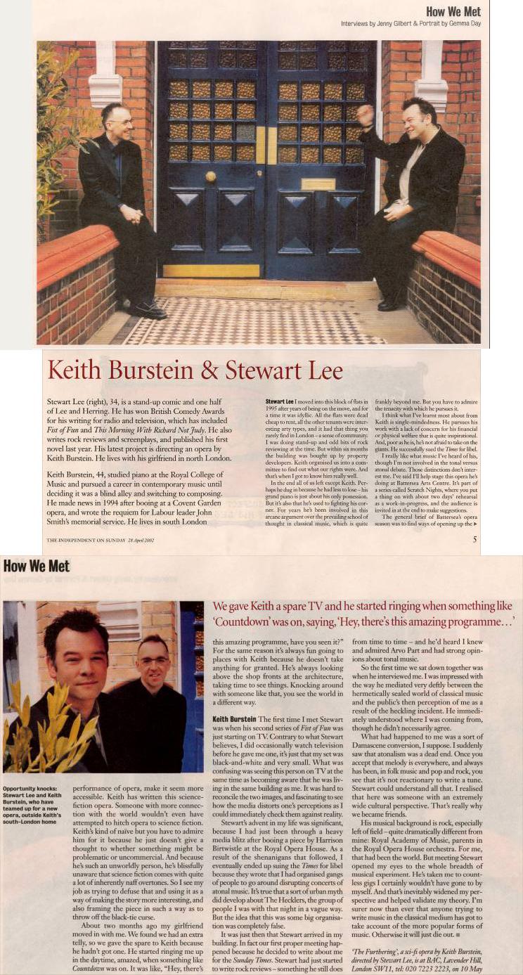 How We Met: Stewart Lee & Keith Burstein