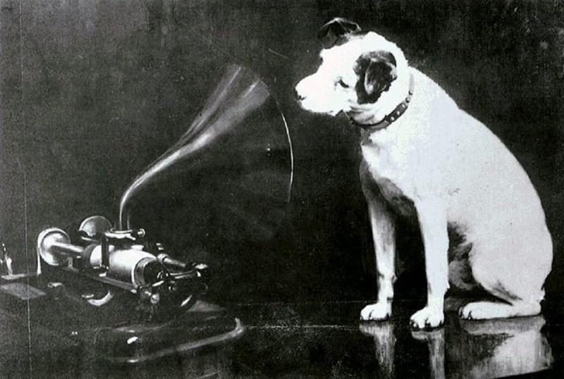 Nipper / HMV - A Dog listening to classical music