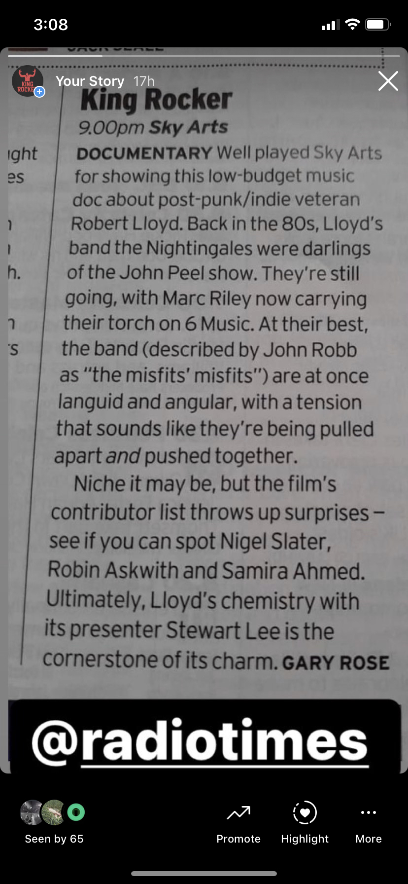 TV Pick in Radio Times